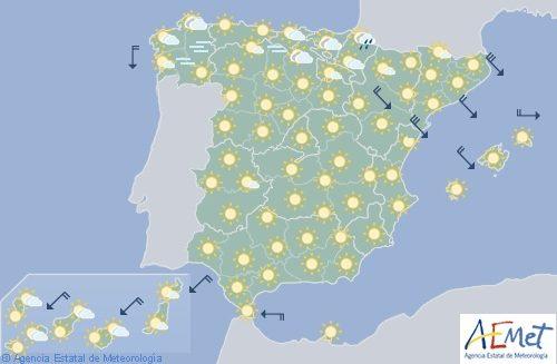 Hoy en España, temperaturas al alza y viento en Castellón y Tarragona