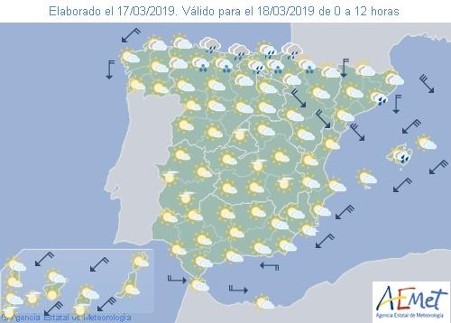 Hoy en España descenso notable de las temperaturas en el tercio oriental y Baleares
