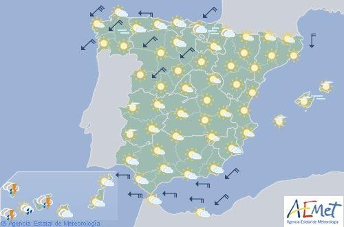 Hoy en España bajan temperaturas en el norte y Canarias con precipitaciones fuertes