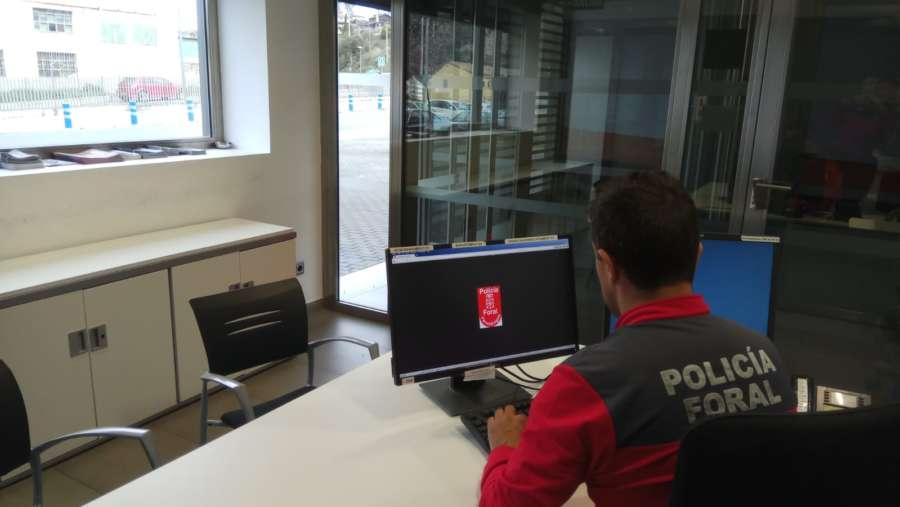 Policía Foral recoge denuncias en locales habilitados por municipios del Eje del Ebro