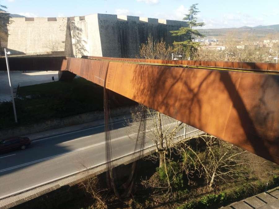 Mañana se realiza la prueba de carga en la pasarela Labrit de Pamplona