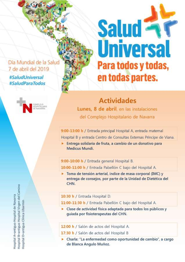 Actividades gratuitas a los ciudadanos en el CHN en el Día Mundial de la Salud