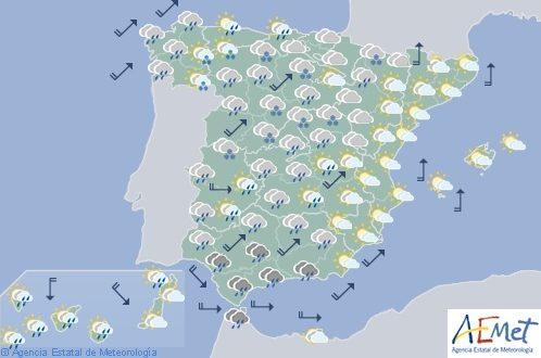 Hoy en España nevadas en zonas altas del norte y temperaturas diurnas en descenso