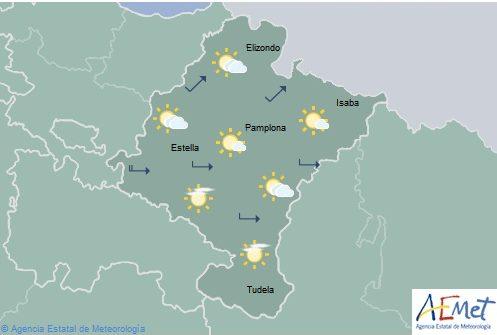 En el noroeste de Navarra temperaturas máximas en ascenso, pocos cambios en el resto
