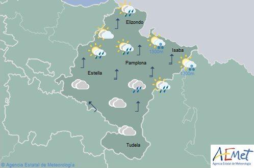 Alerta amarilla por fuertes rachas de viento en el norte de Navarra