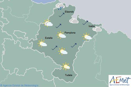 Intervalos nubosos en Navarra sin descartar alguna precipitación débil