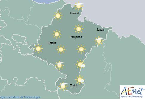 En Navarra poco nuboso con intervalos de nubes altas