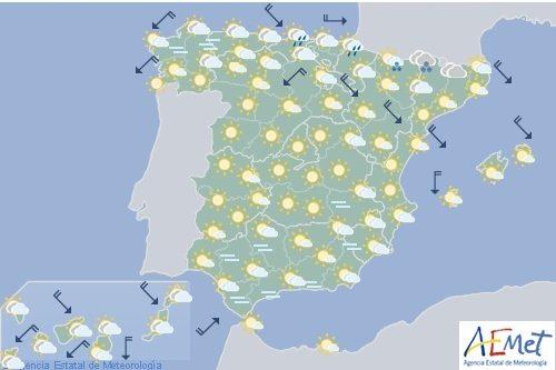 Hoy en España, vientos fuertes en el bajo Ebro y en elPirineo