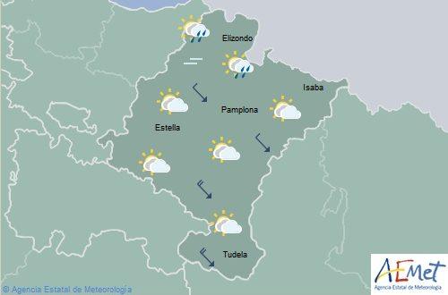 En Navarra lluvias débiles en el norte y oeste, temperaturas máximas en ascenso