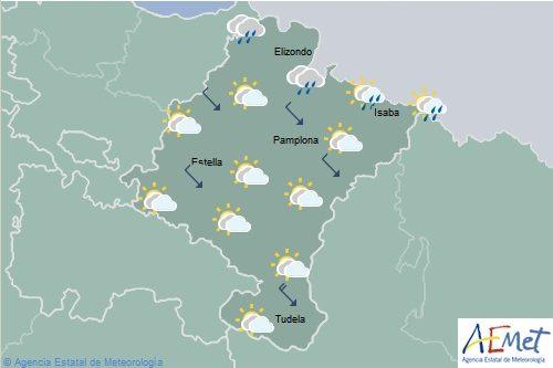 En Navarra descenso localmente notable de temperaturas máximas