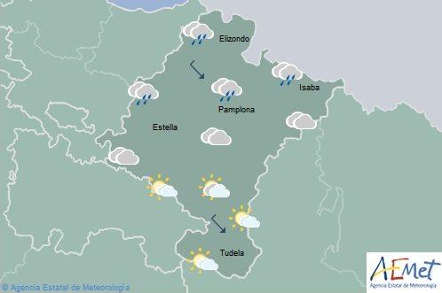 En Navarra, temperaturas máximas en aumento, lluvias en el norte