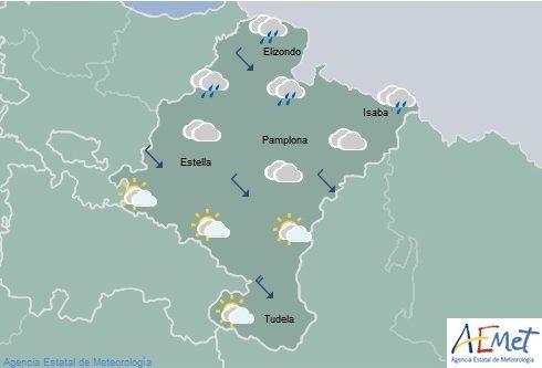 En Navarra temperaturas en ligero descenso, lluvias débiles en el tercio norte