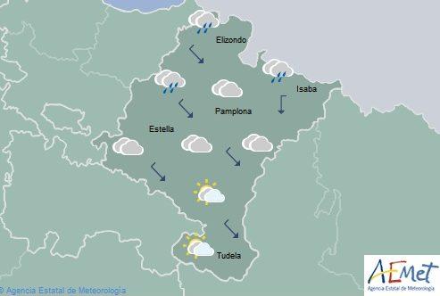 Nubosidad en disminución, posibilidad de lluvias débiles en la Vertiente Cantábrica y Pirineo de Navarra