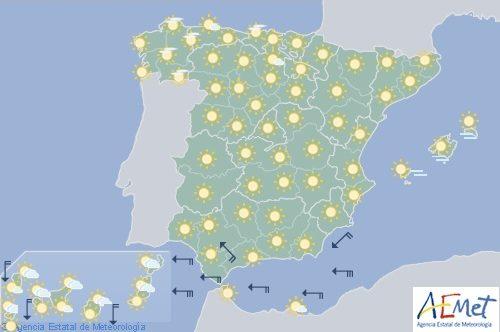 Despejado en España, con levante fuerte en el Estrecho