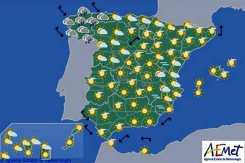 Hoy en España, bajada de temperaturas generalizada que será notable en el oeste