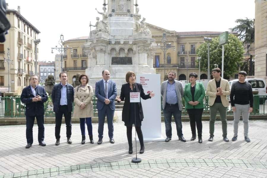 Barkos: el 26M se decidirá entre seguir mirando al futuro o volver al pasado