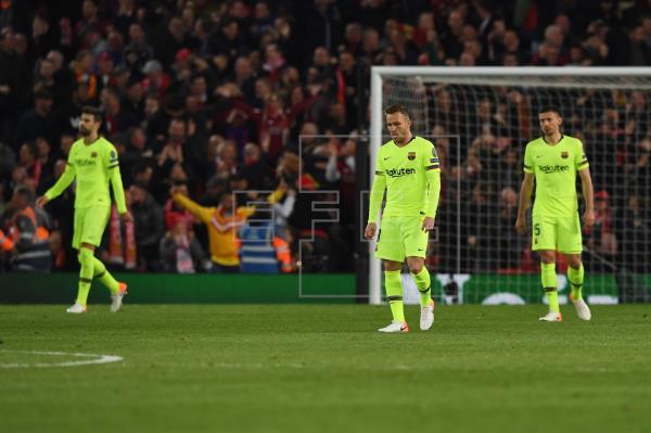 El Barcelona, humillado por el Liverpool y fuera de la final de la Champions League