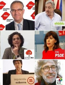 26M: Candidatos a la alcaldía de Pamplona recorren la ciudad con sus propuestas