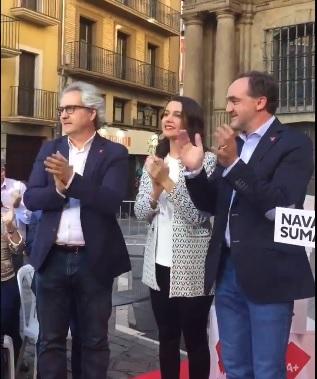 Arrimadas argumenta que el pacto navarro refuerza el no de Cs a Sánchez