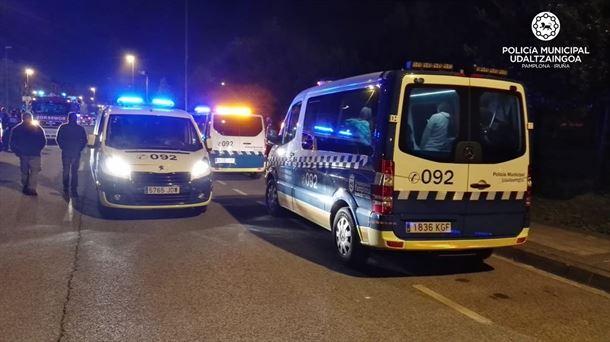 Un herido al ser atropellado en un paso de peatones en Pamplona