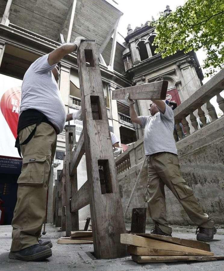El 3 de junio empieza el montaje del vallado para los encierros de San Fermín