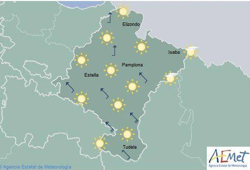En Navarra temperaturas sin cambios, cielo despejado