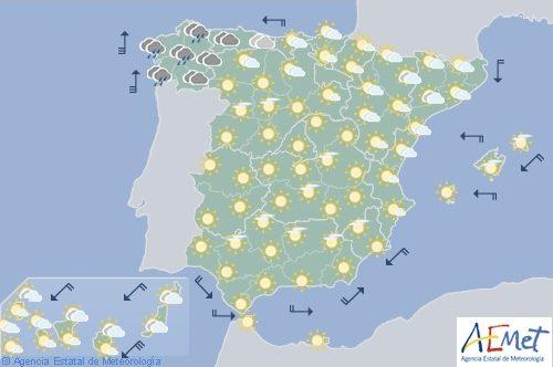 Hoy en España, precipitaciones persistentes en Galicia