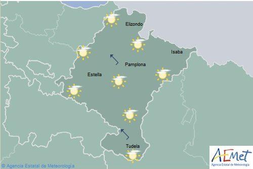 Ascenso notable de las temperaturas máximas en Navarra