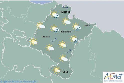 Nubes altas en Navarra con temperaturas máximas en ascenso