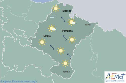 En Navarra temperaturas en aumento, no se descarta alguna lluvia débil en el norte