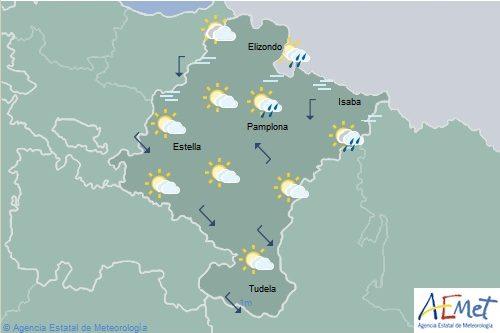 Lluvias, chubascos y tormentas en Navarra, temperaturas máximas con pocos cambios