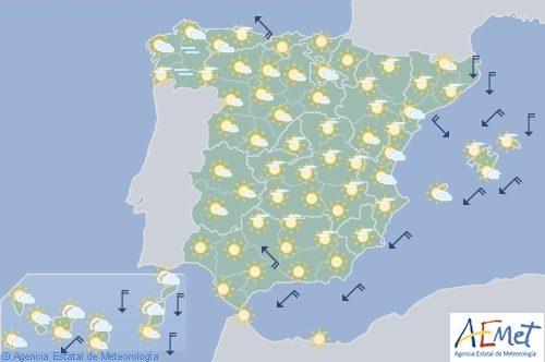 Hoy en España, ascenso notable de temperaturas en el área cantábrica,Navarra, alto Ebro y Castilla y León