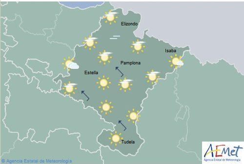 Temperaturas máximas en aumento notable en Navarra
