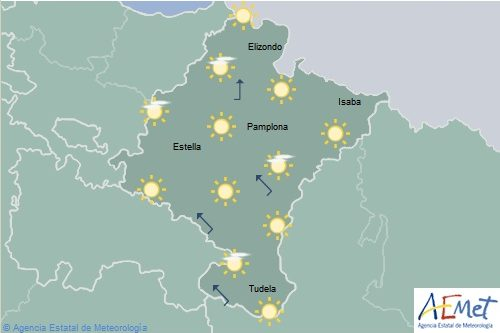 En Navarra temperaturas en aumento notable
