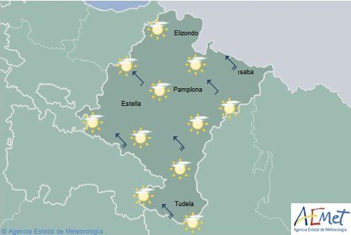En Navarra nubes altas de evolución y temperaturas con pocos cambios