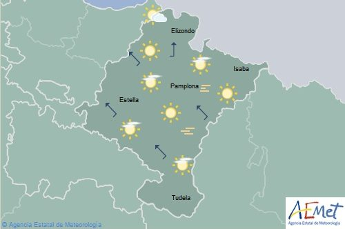 Aumento acusado de temperaturas en Navarra