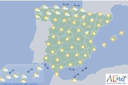 Hoy en España temperaturas extremas en el valle del Ebro