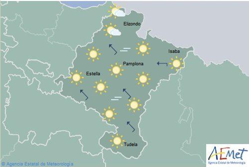 Cielos despejados y más de 40 grados en la mayor parte de Navarra