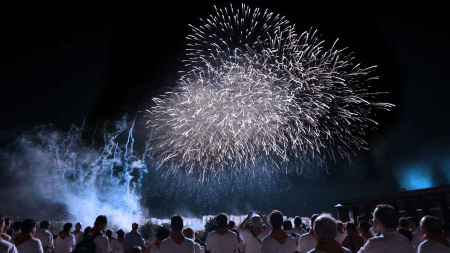 Se cumplen 20 años del concurso de fuegos artificiales de Pamplona