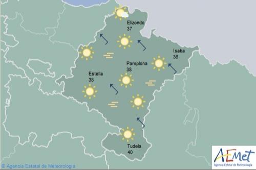 En Navarra temperaturas en ascenso