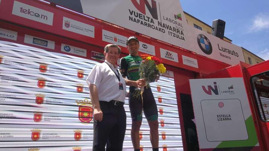 Cepeda gana la quinta etapa y la Vuelta a Navarra