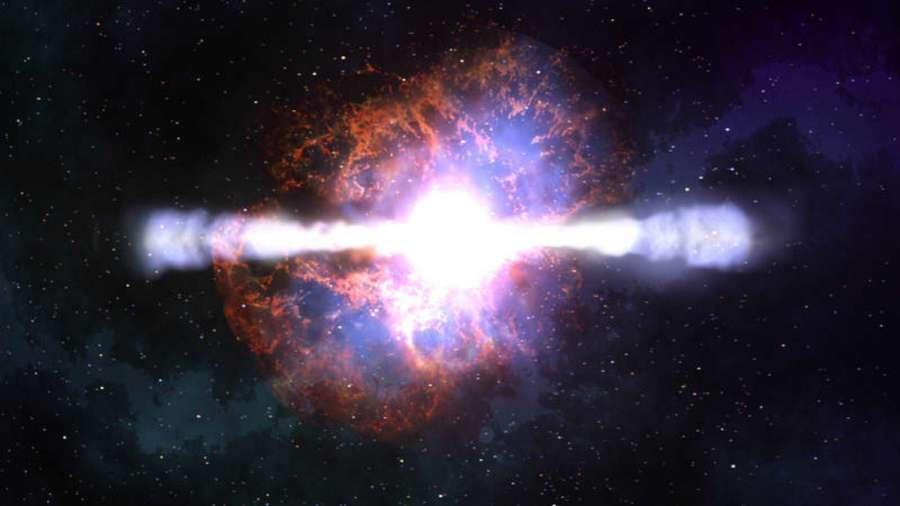 Observan los restos de un estallido de rayos gamma, una rareza del universo