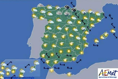 La semana en España arranca con lluvia en el Cantábrico y Cataluña y despejado en el resto