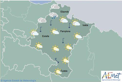 Descenso de temperaturas máximas en Navarra, notable o localmente extraordinario