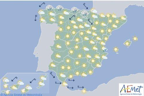 Hoy en España, tormentas en el Pirineo oriental y viento fuerte en Galicia y Canarias