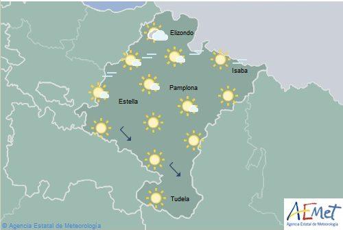 Aumento notable de las temperaturas en el noroeste de Navarra