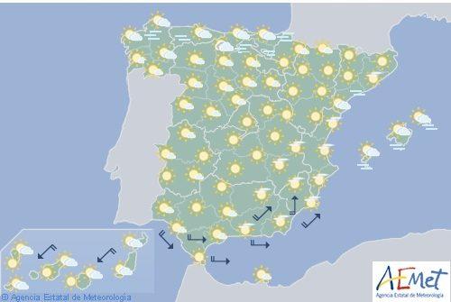 Hoy en España, temperaturas significativamente altas en el nordeste y área mediterránea