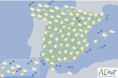 Hoy en España, temperaturas altas en Aragón, Cataluña y Baleares