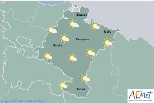Nubosidad en aumento y chubascos generalizados en Navarra