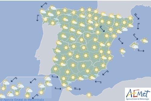 Tiempo estable en casi todo España